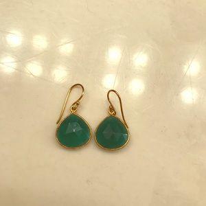 Chalcedony small drop earrings